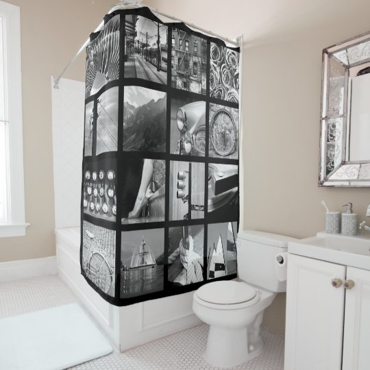 Create Your Own Photo Collage Shower Curtain Zazzlecom