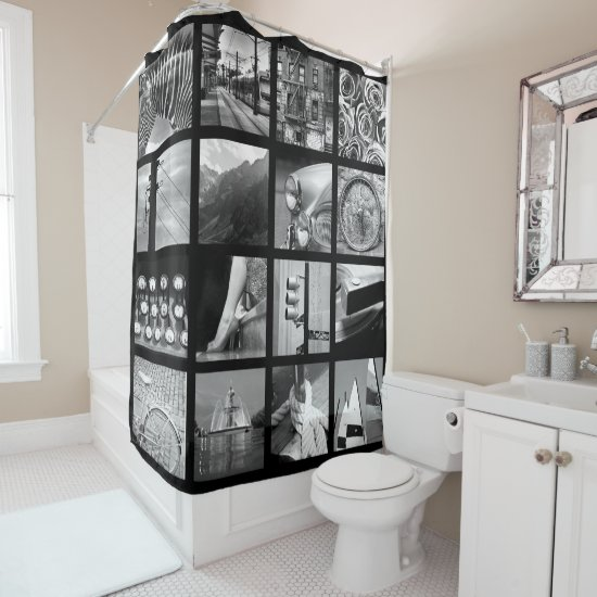 Create-Your-Own Photo Collage Shower Curtain