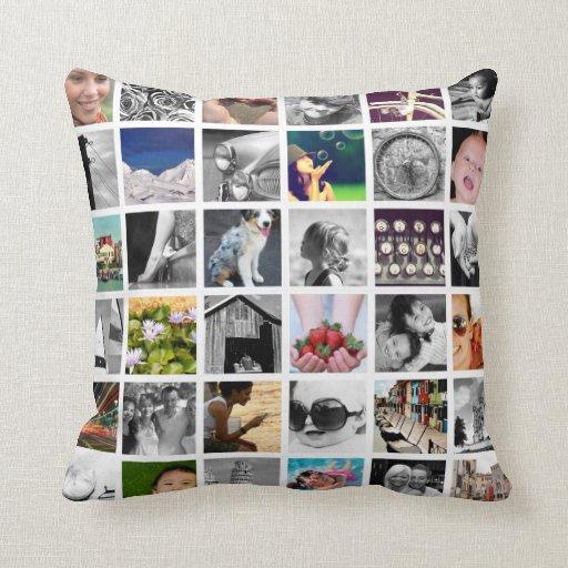 Create Your Own Photo Collage Throw Pillow Zazzle
