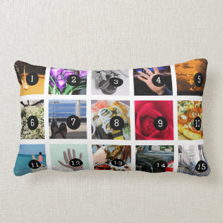 Create Your Own Photo collage with 15 images Pillow
