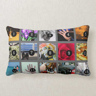 Create Your Own Photo collection with 15 images Throw Pillow