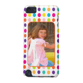 Create Your Own Photo Colorful Dots Custom iPod Touch (5th Generation) Case
