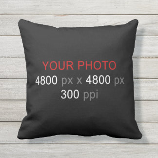 Create Your Own Photo Custom 16 Inch Outdoor Pillow