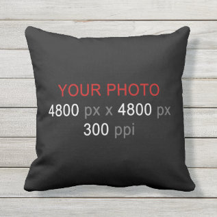 Create Your Own Photo Custom 16 Inch Throw Pillow at Zazzle