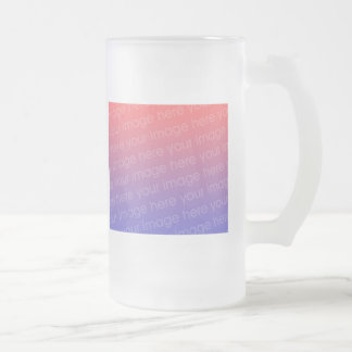 Create Your Own PHOTO Frosted Glass Beer Mug