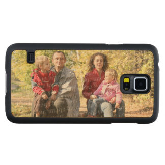 Create Your Own Photo - Horizontal Carved Maple Galaxy S5 Slim Case