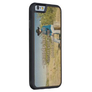 Create Your Own Photo - Horizontal Carved Maple iPhone 6 Bumper Case