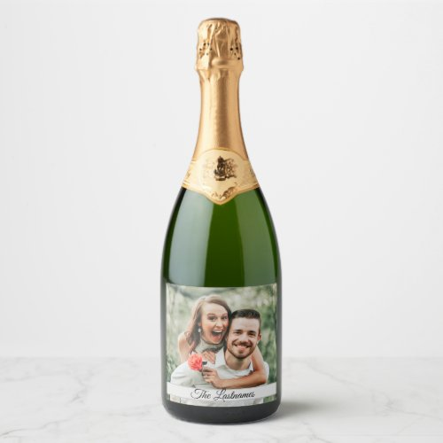 Create Your Own Photo Image Champagne Label