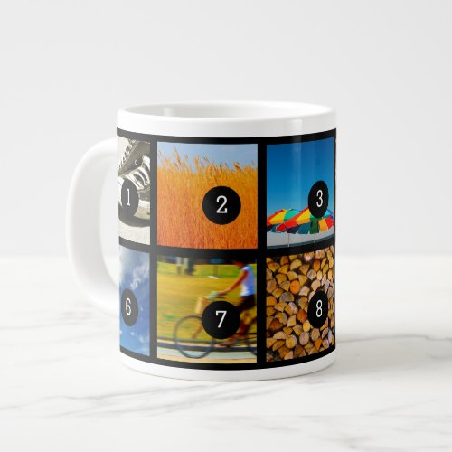 Create Your Own Photo Instagram with 10 images Giant Coffee Mug