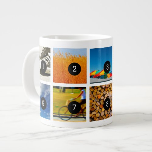 Create Your Own Photo Instagram with 10 images Large Coffee Mug