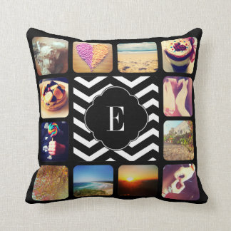 Create Your Own Photo Monogram Throw Pillow