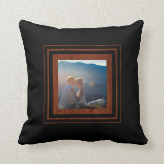 Create Your Own Photo | Monogram Wedding Keepsake Throw Pillow