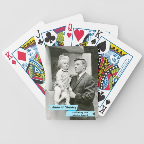 Create Your Own Photo Personalized Bicycle Playing Cards