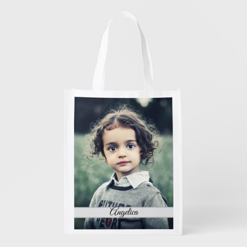 Create Your Own Photo Personalized Grocery Bag