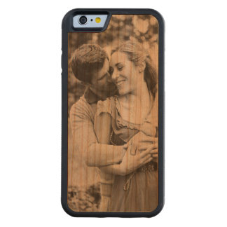 Create your own photo phone case in wood carved® cherry iPhone 6 bumper case