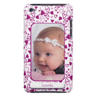 Create Your Own Photo Pink Hearts Love Child iPod Touch Case