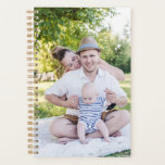 "Create Your Own Photo Planner | Custom Planner<br><div class=""desc"">Customizable planner featuring watercolor floral pattern with custom photo. Upload your own family photos or other photos. Perfect as a gift.</div>"