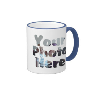 CREATE YOUR OWN PHOTO RINGER COFFEE MUG