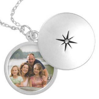 Create your own photo template locket necklace