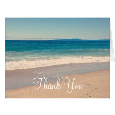 Beach Themed Create Your Own Photo Thank You Card