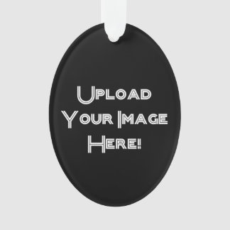 Create-Your-Own Photo Upload Ceramic Ornament