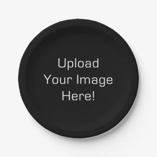 Create-Your-Own Photo Upload Paper Plate 7 Inch Paper Plate