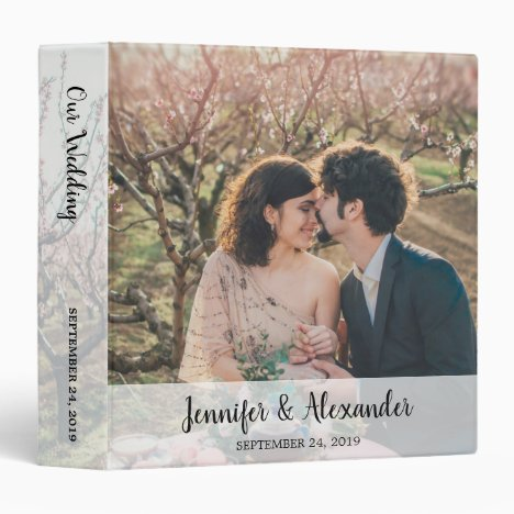 Create your own photo wedding album 3 ring binder