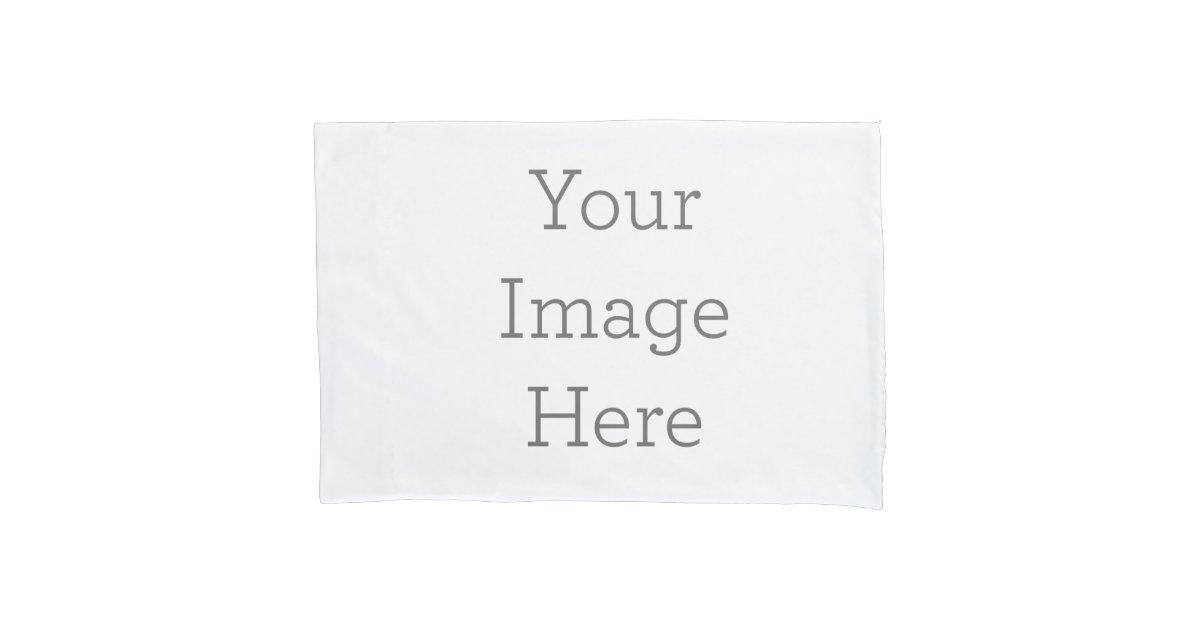 custom single pillowcase standard size zazzle. Black Bedroom Furniture Sets. Home Design Ideas