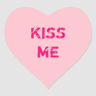 Create Your Own Pink Conversation Heart Heart Sticker