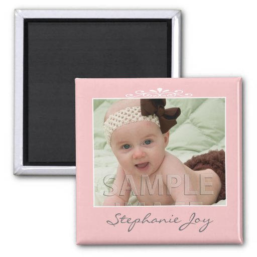 Create Your Own Pink Custom Photo Template Refrigerator Magnet