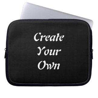 Create Your Own Plain Black Lap Top Case Computer Sleeve