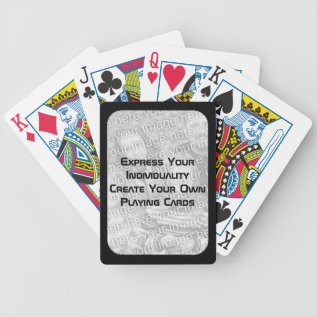 Create Your Own Playing Cards - Photo Dark Border at Zazzle