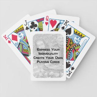 Create Your Own Playing Cards - Photo White Border at Zazzle