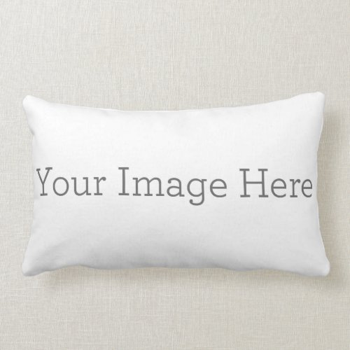Create Your Own Polyester Lumbar Pillow 13 x 21