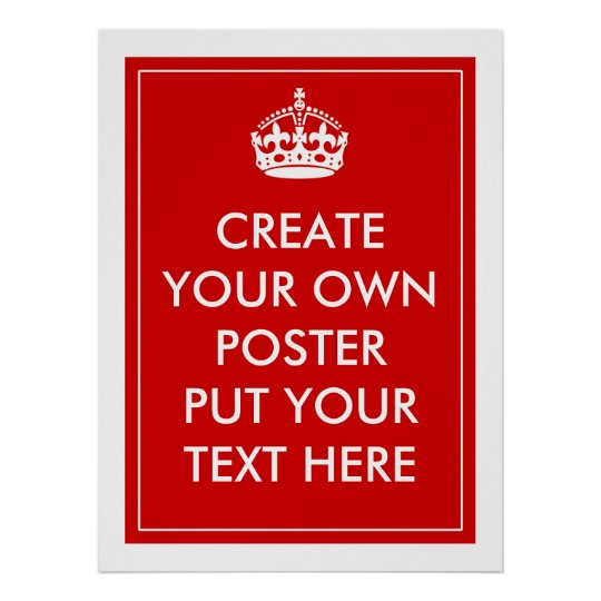 create your own poster zazzle com