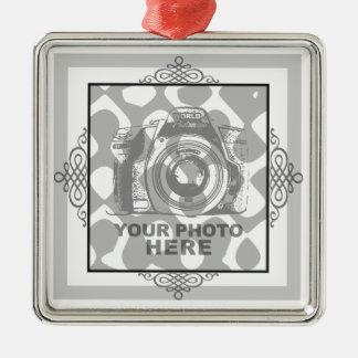 Create Your Own Premium Square Ornament Elegant