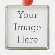 Create Your Own Premium Square Ornaments at Zazzle