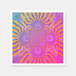 Create Your Own pretty cute rainbow lovely party Napkin