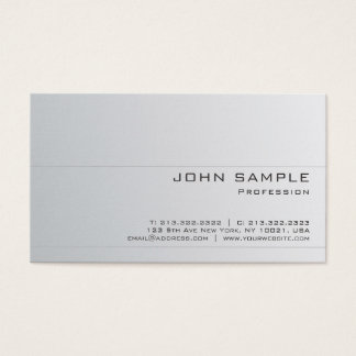 Create Your Own Professional Modern Graceful Matte Business Card
