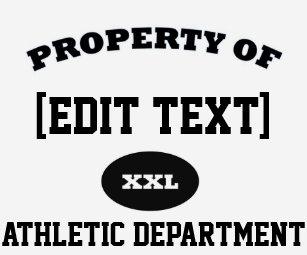 Property Of Template TShirts Shirt Designs Zazzle - Property of t shirt template