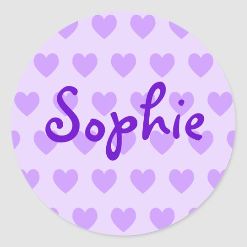 Create Your Own Purple Heart Pattern Classic Round Sticker