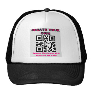 CREATE YOUR OWN QR CODE PRODUCT TRUCKER HAT