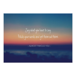 Create Your Own Quote Lake Sunset Poster