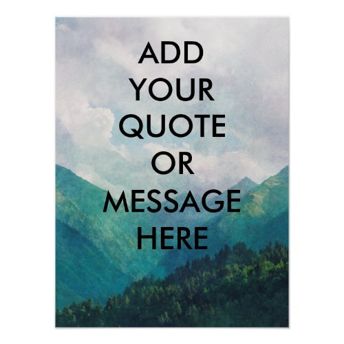 Create your own quote poster