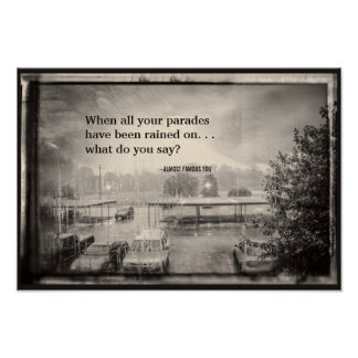 Create Your Own Quote Rainy Parking Lot Poster