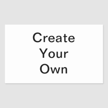 Create Your Own Rectangle Sticker by zazzle_templates at Zazzle