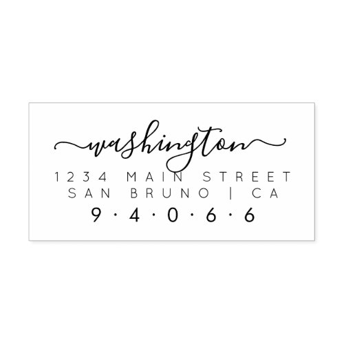 Create Your Own Rectangular Family Return Address Self_inking Stamp
