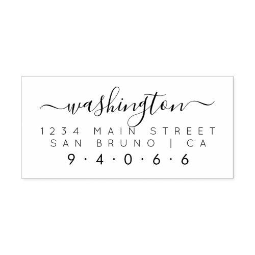 Create Your Own Rectangular Family Return Address Self_inking Stamp