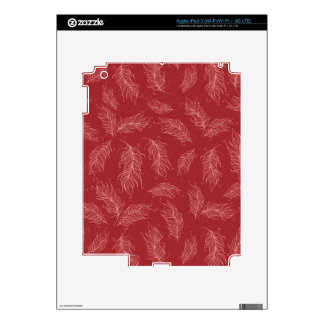Create Your Own Red Feathers iPad 3 Skin