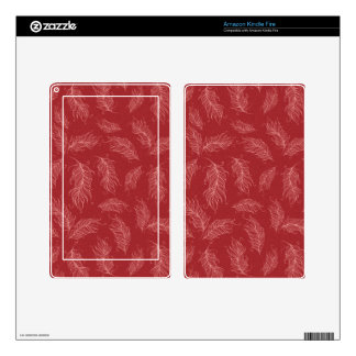 Create Your Own Red Feathers Kindle Fire Decals